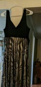 Black and silver evening dress